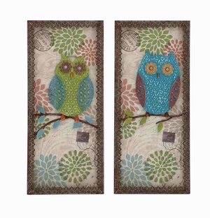 Austere Attractive Customary Owl Plaque - 55518 by Benzara