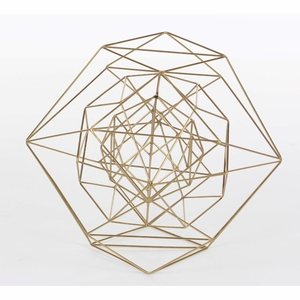 Marvellous Metal Wire Gold Sphere, Large - 57349 by Benzara