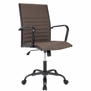 Master Contemporary Fabric Office Chair in Brown by LumiSource
