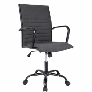 Master Contemporary Fabric Office Chair in Charcoal by LumiSource