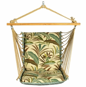 Matisse Fern / Blue Solid Soft Hanging Chair by Algoma