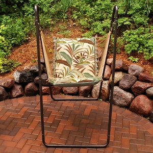 Matisse Fern or Blue Solid Swing Chair and Stand Combination by Algoma