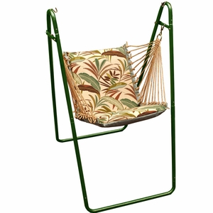 Matisse Fern or Blue Solid Swing chair with Stand by Algoma