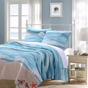 Maui Quilt Set, 3-Piece King by Greenland Home Fashions