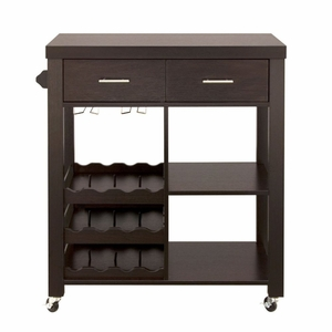 Meira 2-Drawer Mobile Wine Cabinet