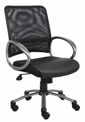 Boss Chair Mesh Back with Pewter Finish Task Chair Decor