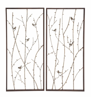 Mesmerizing Styled Metal Wall Decor 2 Assorted - 54454 by Benzara
