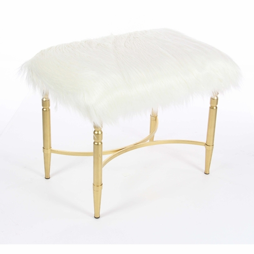 Images Of Gold Stool With White Fur As Fine Info For You