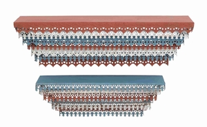 Metal Wall Shelf with Intricate Aesthetic Design Set of 2  - 92349 by Benzara