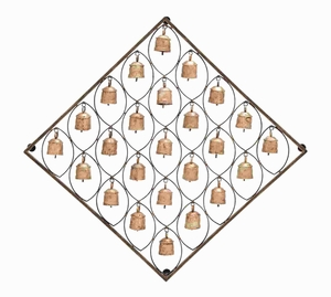 Bell Plaque Skillfully Crafted With Intricate Detailing - 26795 by Benzara