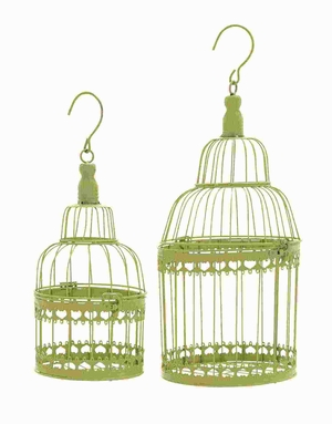 Bird Cage with Great Durability and Long Lasting - Set of 2 - 66563 by Benzara