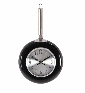 Metal Black Wall Clock, Small - 98435 by Benzara