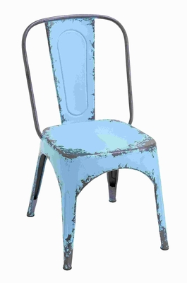 Blue Chair With Dash Of Color And Vibrancy In Classic Style - 55445 by Benzara