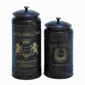 Canisters With Classic And Old-World Appeal - Set Of 2 - 38125 by Benzara