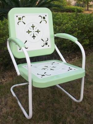 4D Concepts Metal Chair with Lime Color and Amazing Design