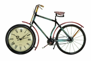 METAL CYCLE CLOCK FOR KIDS ROOM DECOR UPGRADE - 39085 by Benzara