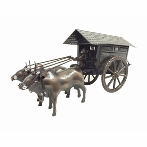 Metal Cows with Cart by D Art Collection