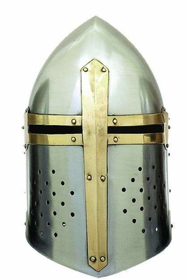 Metal Crusader Helmet Can Be Clubbed With Smalldecorative Items - 36200 by Benzara