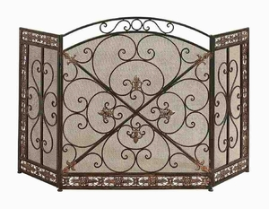 METAL FIRE SCREEN FASHION FOR PARTITION - 71822 by Benzara