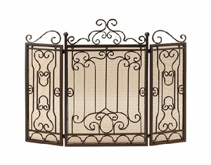 METAL FIRE SCREEN FOR COMPLETE SAFETY AT FIRE PLACE - 90569 by Benzara