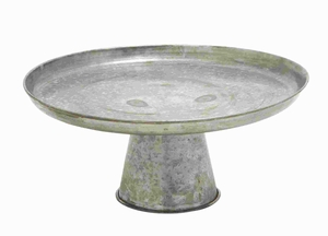 Galvanized Cupcake Stand With A Distressed Finish - 38175 by Benzara