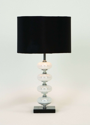 ARTISTIC METAL GLASS TABLE LAMP - 40023 by Benzara