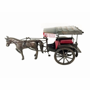 Metal Horse Carriage Trolley by D Art Collection