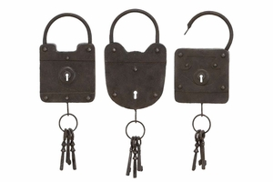 Metal Key 3 Assorted To Keep The Keys Safe And In Style - 51771 by Benzara