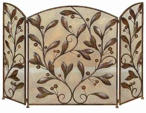 METAL FIRE SCREEN ADecorATIVE PROTECTION - 71889 by Benzara