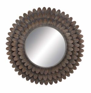 Wall Accent Mirrors- Metal Mirror - 54309 by Benzara