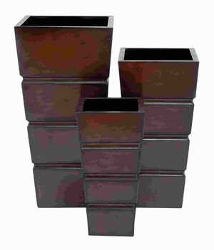Planter Modern Design And Smooth Finish - Set Of 3 - 53206 by Benzara