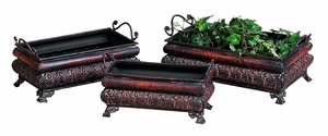 Metal Planter Set Of 3 For Gardening Enthusiasts - 21977 by Benzara