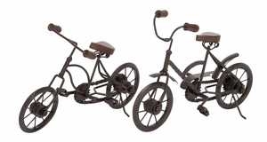 Metal Racing Cycle 2 Assorted  Unique Home Accents - 46665 by Benzara