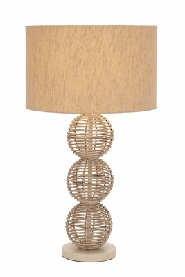 Designers Lamps - Metal Rattan Table Lamp - 40131 by Benzara