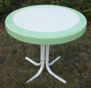 4D Concepts Metal Retro Round Table in Lush Lime