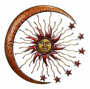 METAL SUN MOON wall decor MAKES THE ROOM FEEL NATURAL - 42770 by Benzara