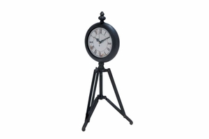 Metal Tripod Clock With Tripod Stand - 51648 by Benzara