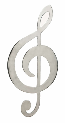 Aluminum Music Signdecor With Musical Blend - 30674 by Benzara