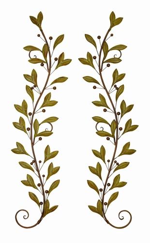 Benzara 41926 Metal Wall Decor Crafted With Dainty Leaf Creeper Design At  Wildorchidquilts.Net