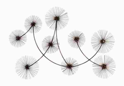 Dandelion Metal Wall Decor : Benzara metal wall decor designed with fine