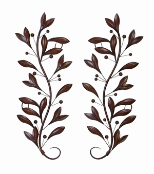 Metal Wall Decor Pair For Wall Decor Upgrade Option - 63048 by Benzara
