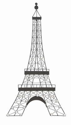 Elegant Diamond Beaded Eifel Tower Wall  Decor - 55112 by Benzara