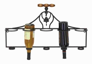 Wall Wine Rack With Minimalistic Style And Dark Finish - 55481 by Benzara