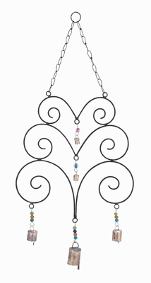 Metal Wind Chime With Great Eclectic Design With Abstract Design - 26761 by Benzara