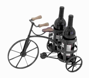 Wine Holder in Black with Solid and Durable Construction - 92315 by Benzara