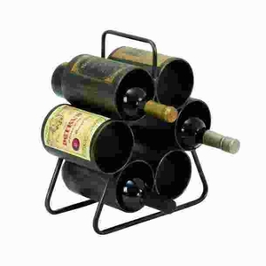 Wine Rack For Six Bottles With Space Saving Design - 34885 by Benzara