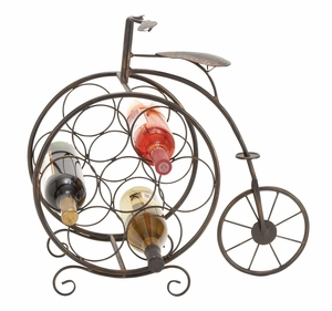 METAL WINE RACK19 INCHES HIGH STYLE STATEMENT - 65883 by Benzara