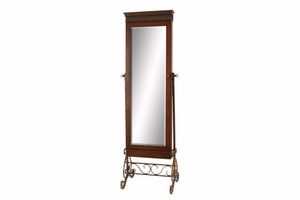 Wood Mirror Polished Decorated In Style - 51691 by Benzara