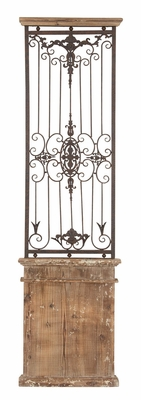 METAL WOOD WALL GATE MAKES YOU FALL IN INSTANT LOVE - 80944 by Benzara