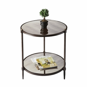 """Metalworks Side Table 22.5""""Diam. by Butler Specialty"""